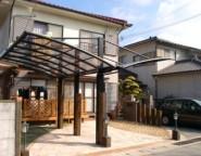 Vol.4 駐車スペース拡張と前庭に木樹脂デッキ&テラス