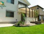 Vol.14 暮らしの中にココマを。TM9の鮮やかな芝とタイルテラスの中庭プラン