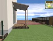 オープン外構。お庭部分を拡張し芝生と植栽中心のお庭を実現!