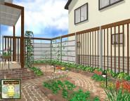 ~ガーデニングを楽しむお庭~ ヴィンテージレンガのナチュラルガーデン