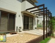 Vol.26 プラスGをワンポイントに遊び心満載の塗り壁門柱。シンプルなお家の新築外構