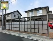角地の広い敷地の新築外構。プラスGを使った目隠しとジーマテラスのお庭