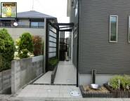 Vol.14 店舗兼住宅の新築外構。プラスG(Gルーフ)を使った2つの玄関まわり