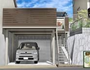 古いガレージの大型リフォーム!高低差のある敷地、空間を有効に! 12/13NEW