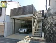 古いガレージの大型リフォーム!高低差のある敷地、空間を有効に!