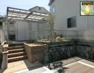 Vol.2 ガーデンリフォーム!バラアーチが迎える中庭とシンクタイプのレンガ立水栓