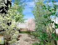 リビング&ウッドデッキから眺める、四季折々に楽しむ雑木の庭。 12/13NEW