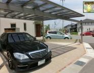 角地変形地の新築外構!敷地に合わせたカーポート施工と外構で施工する玄関ポーチ!1/31アップ!