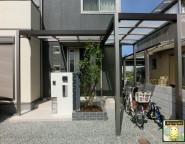 玄関前のリメイクと追加!プラスGによる使い勝手の良い玄関まわりと駐輪場