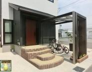 玄関ポーチは外構で!門柱と目隠しを兼ねたカッコいい自転車置き場 4/18アップ!