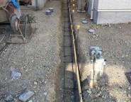 Vol.12 施工中・石貼り門柱とGルーフのクローズド外構