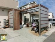 玄関の屋根と自転車置き場の屋根をプラスGで!