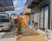 Vol.1 手つかずの中庭・・・洋石貼りとコンクリート枕木敷き