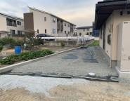 姫路市新築外構・畑の造成前からご相談頂いた平屋の新築外構
