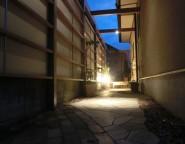 長いアプローチにプラスG!LEDライトで夜の安全性とライティングの心地よさ 姫路市