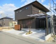 姫路市新築外構|新和風調の前庭のある外構