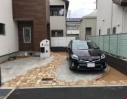 Vol.1ヴィンテージレンガ乱型のアプローチ・ガレージ