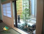 竹垣フェンス~高台の外構・・・洋と和のお庭のあるガーデンプラン~