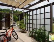 前面道路からの視線をカット!プラスGでプライベート空間の演出を 福崎町