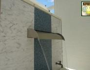 壁栓に使用したエバーアートボード。リゾート感たっぷりの仕上がり